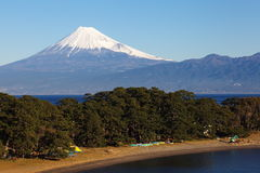 Mountain Fuji and sea Royalty Free Stock Images