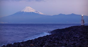 Mountain Fuji and sea Stock Photos