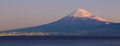 Mountain Fuji and sea Royalty Free Stock Photo