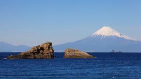 Mountain Fuji and sea from Izu city Royalty Free Stock Photo