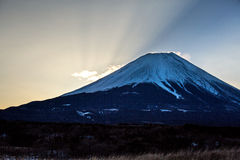 Mountain Fuji Sunrise Stock Photography
