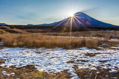 Mountain Fuji Sunrise Royalty Free Stock Images