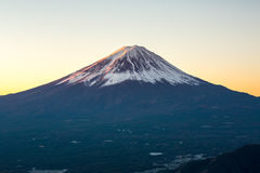 Mountain Fuji sunrise Japan Stock Images