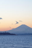 Mountain Fuji at sunset time Stock Photography