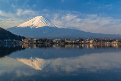 Mountain Fuji view from the lake Stock Images