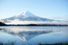 Mountain Fuji view from the lake,The symbol of Japan. Stock Image