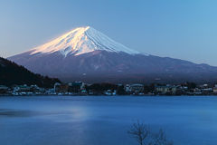 Mountain Fuji view from the lake, The symbol of Japan. Royalty Free Stock Photos