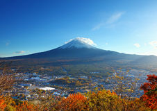 Mountain fuji and village Stock Photo
