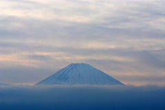 Mountain Fuji in winter close up, natural landscape Stock Image