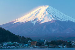 Mountain Fuji in the winter at Japan/The symbol of Japan. Stock Photography