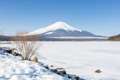 Mountain Fuji winter Royalty Free Stock Image
