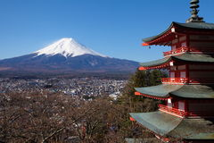 Mountain Fuji in winter royalty free stock images