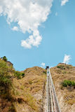 Mountain funicular Royalty Free Stock Image