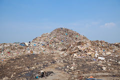 Mountain of garbage Royalty Free Stock Photo