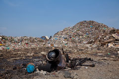 Mountain of garbage Royalty Free Stock Images