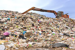 Mountain of garbage Stock Photos