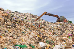 Mountain of garbage Royalty Free Stock Photography