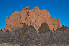 The mountain in Garden of Gods Royalty Free Stock Photo