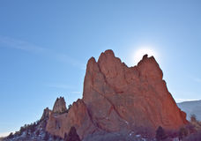 The mountain in Garden of Gods stock photo