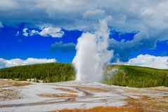 Mountain geyser