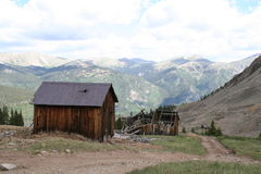 Mountain ghost town royalty free stock images