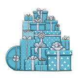 Mountain gifts. Isolated vector object on white background Stock Images
