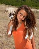 Mountain girl royalty free stock photo