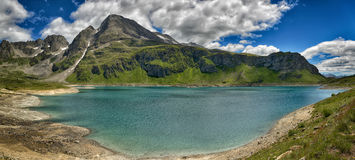 Mountain glacial lake in a great landscape Stock Photos