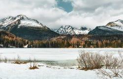 Strbske Pleso in winter - Slovakia stock photography