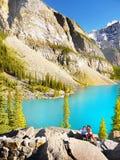 Mountain Glacial Lake stock image