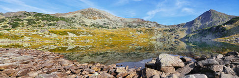 Mountain glaciar lake landscape panorama Royalty Free Stock Photos