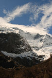 Mountain glacier. Mountain peak and glacier in New Zealand mt cook range Royalty Free Stock Images