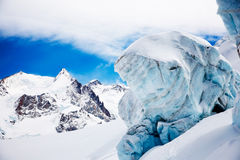 Mountain glacier Royalty Free Stock Image