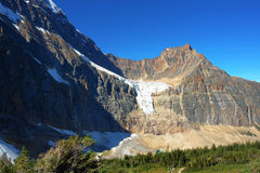 Mountain and glacier royalty free stock image