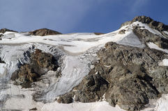 Mountain glacier. Caucasus Mountains. Digoriya Stock Photo
