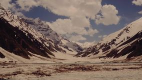 Mountain glacier stock video