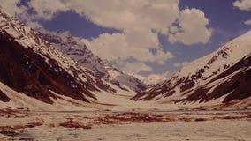 Mountain glacier stock video footage