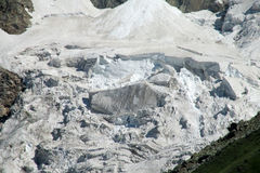 Mountain glacier avalanche Royalty Free Stock Images