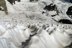Mountain glacier covered with snow Royalty Free Stock Photo