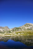 Mountain and glacier lake Royalty Free Stock Photography