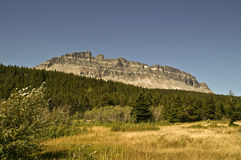 Mountain in Glacier National Park Royalty Free Stock Image