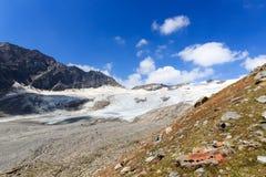 Mountain glacier panorama, Hohe Tauern Alps, Austria Royalty Free Stock Images