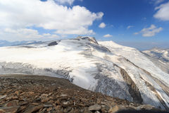 Mountain glacier panorama view with Grossvenediger in Hohe Tauern Alps, Aust Stock Photos