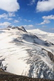 Mountain glacier panorama view with summits Rainerhorn, Grossvenediger, Schwarze Wand and Kleinvenediger, Hohe Tauern Alps, Aust. Mountain glacier panorama view Stock Image