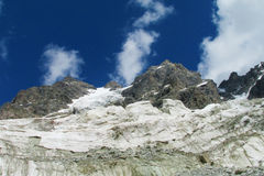 Mountain glacier and summit Royalty Free Stock Images