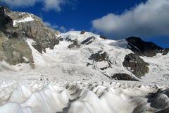 Mountain glacier tongue Royalty Free Stock Photography