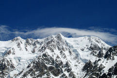 Mountain glaciers landscape Royalty Free Stock Photography