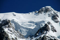 Mountain glaciers and peaks landscape Stock Image