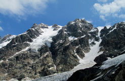 Mountain glaciers and peaks landscape Stock Photography