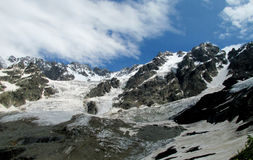 Mountain glaciers and rocks landscape Stock Images